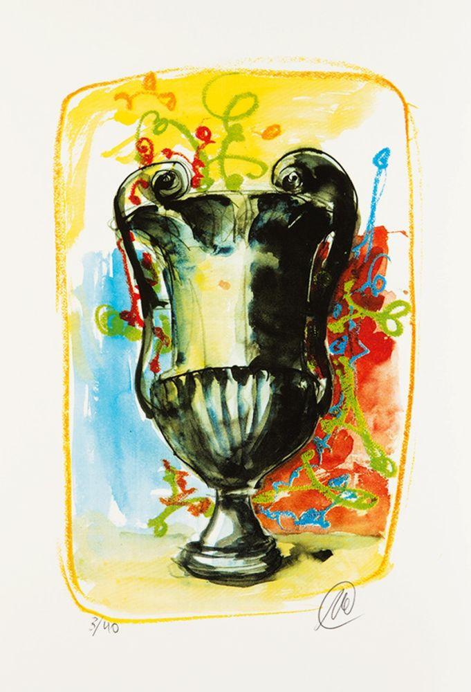 Sérigraphie Lüpertz - Vase 3
