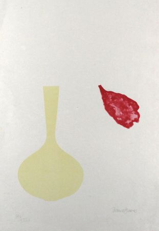 Lithographie Greaves - Vase and Falling Petal