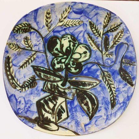 Céramique Picasso - Vase au bouquet