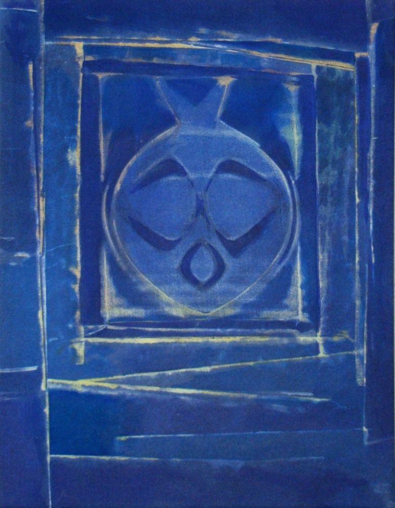 Pochoir Ernst - Vase bleue