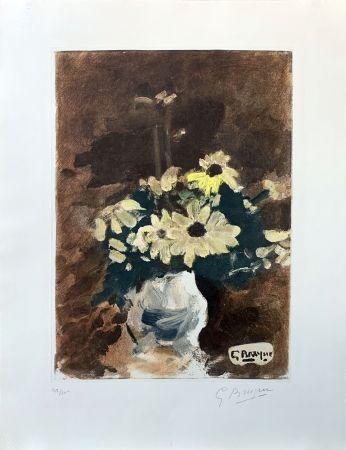 Eau-Forte Braque (After) - Vase de fleurs jaunes