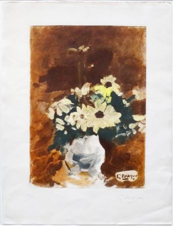 Aquatinte Braque - Vases Aux Fleurs Jaunes