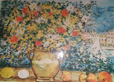 Lithographie Cascella - Vaso di fiori