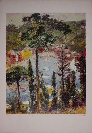 Lithographie Cascella - Veduta di Portofino