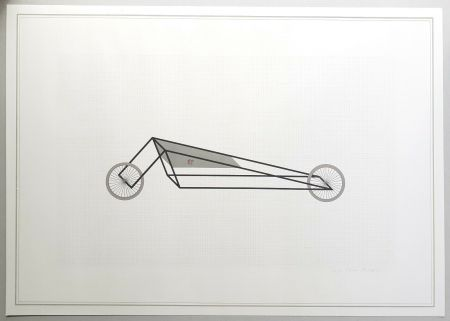 Lithographie Piacentino - Vehicle sculpture. Wall sculpture (b)