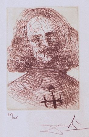 Gravure Dali - Velazquez, from Five Spanish Immortals Series