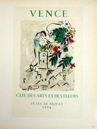 Lithographie Chagall - Vence - Cité des Fleurs