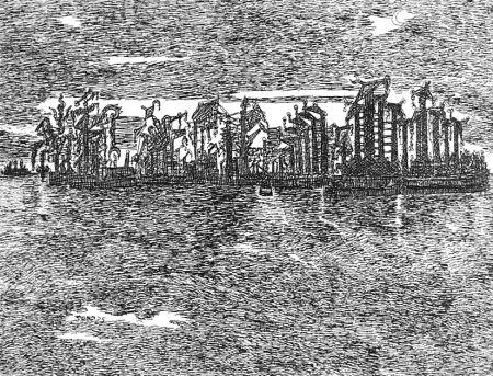 Eau-Forte Zancanaro - Venezia industriale