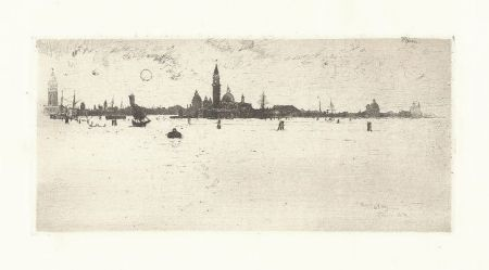 Gravure Pennell - Venice from the Sea