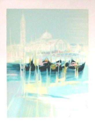 Lithographie Hemeret  - Venise