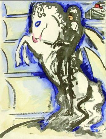 Pochoir Van Dongen - Venise- The horse rider