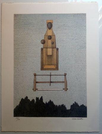 Lithographie Subirachs - Verge de Montserrat