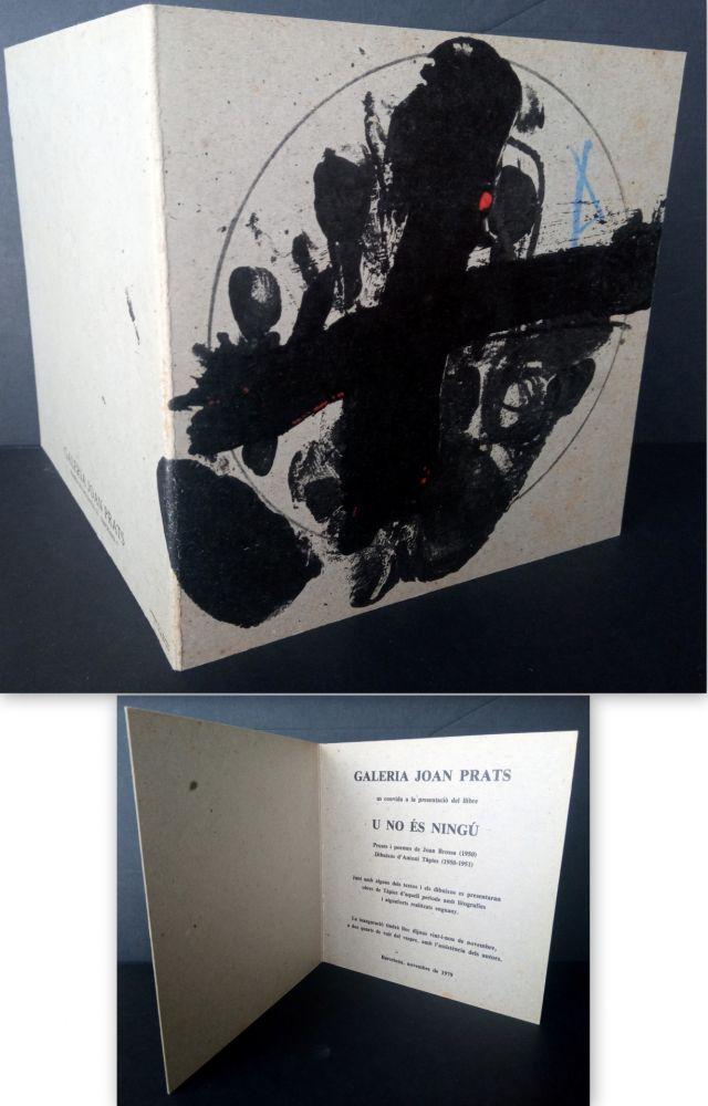 Lithographie Tàpies - Vernissage U no es Ningú Galería oan Prats