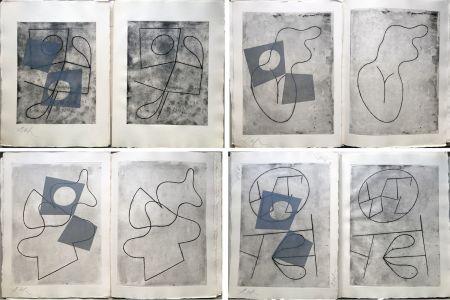 Livre Illustré Arp - VERS LE BLANC INFINI. Exemplaire unique avec les gravures signées (1960).