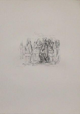 Lithographie Slevogt - Versammlung des Klearchos