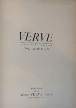 Livre Illustré Picasso - Verve 25 et 26