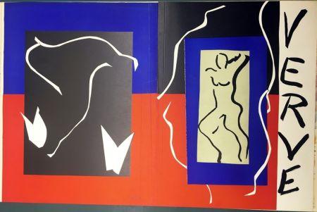 Lithographie Matisse - VERVE Vol. I n° 1. COUVERTURE À PLAT À GRANDES MARGES