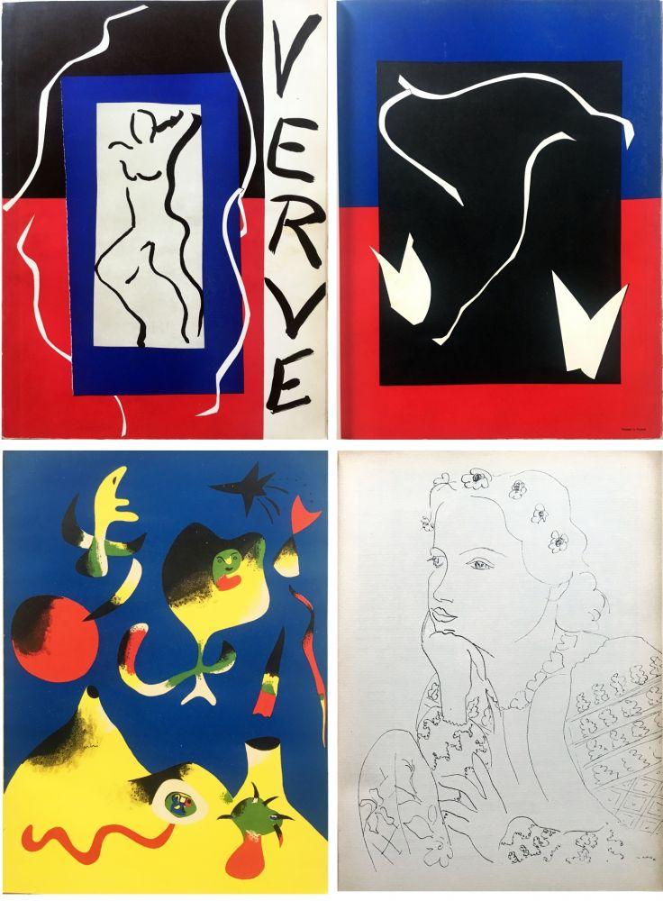 Livre Illustré Matisse - VERVE Vol. I n° 1. (couverture de Matisse).