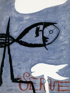 Livre Illustré Braque - VERVE VOL. I n° 2. (Couverture de G. Braque)