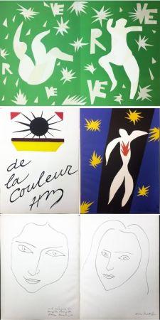 Livre Illustré Matisse - VERVE. Vol. IV, No. 13. DE LA COULEUR. La Chute d'Icare (1945).