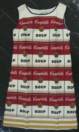 Lithographie Warhol - VESTIDO SOPA CAMPBELL
