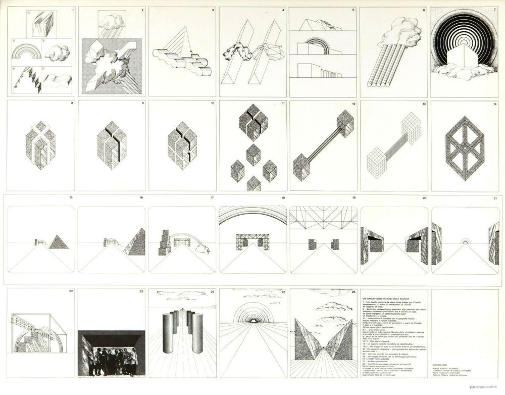 Lithographie Superstudio - Viaggio nelle regioni della ragione