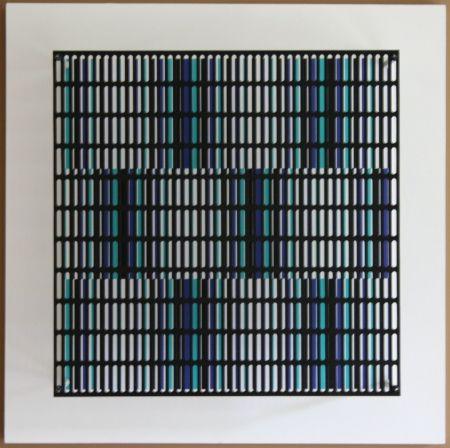 Aucune Technique Asis - Vibration bandes noir, bleu et turquoise