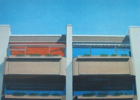 Lithographie Havekost - Vier Kabinen