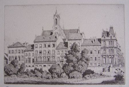 Gravure Strang - View of Brussels