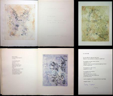 Livre Illustré Tzara - VIGIES. 5 eaux-fortes de Camille Bryen (1962).