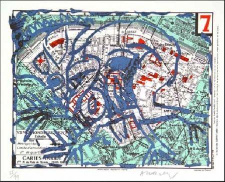 Lithographie Alechinsky - VIIe Arrondissement