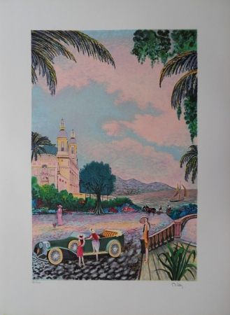 Lithographie Dilley  - Villégiature élégante