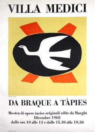 Lithographie Braque - Villa Medici  Da Braque A Tapiès
