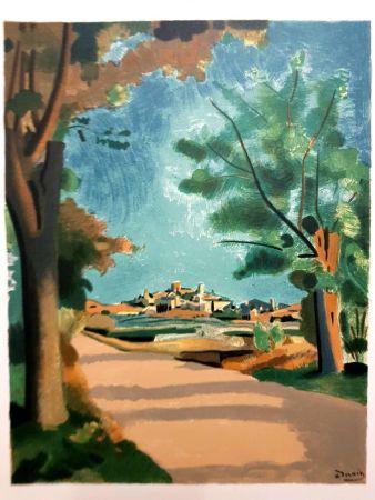 Lithographie Beaudin - Village de Provence
