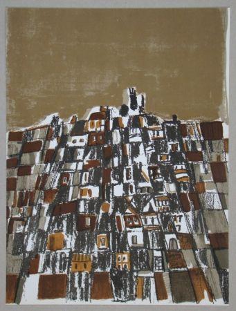 Lithographie Vieira Da Silva - Ville espagnole