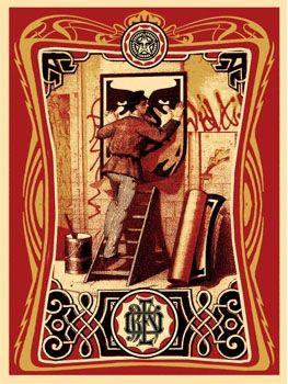 Sérigraphie Fairey - Vintage Paster