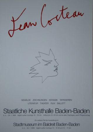 Affiche Cocteau - Visage