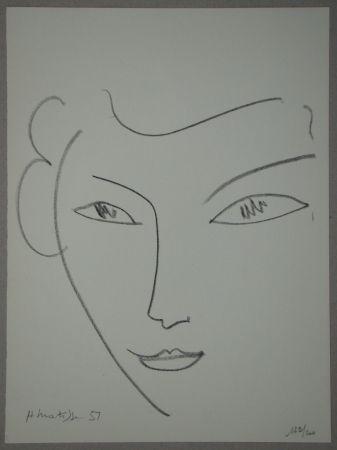 Lithographie Matisse - Visage