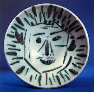 Céramique Picasso - Visage de face