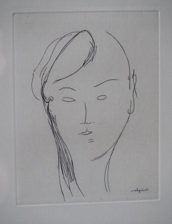 Gravure Modigliani - Visage de femme (1920)