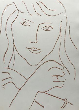 Lithographie Matisse - Visages IV