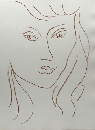 Lithographie Matisse - Visages VI