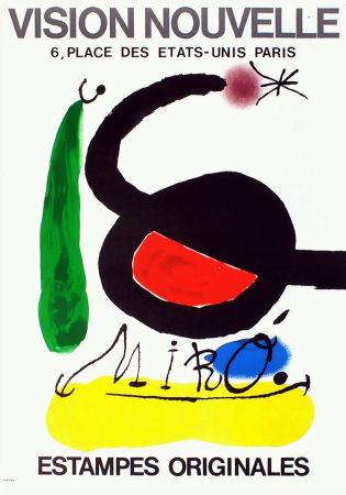 Affiche Miró - VISION NOUVELLE. Estampes originales. Exposition de 1967.