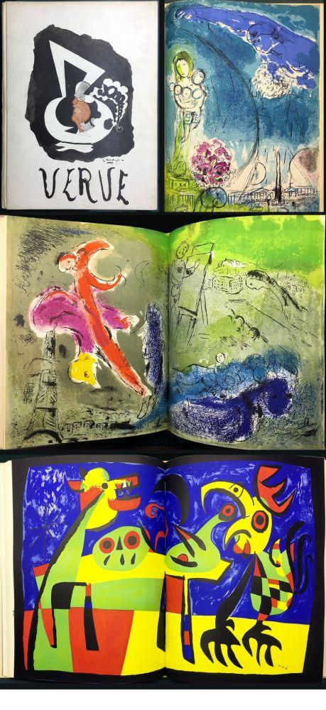Livre Illustré Chagall - VISIONS DE PARIS. VERVE Vol. VII. N° 27-28 (1953)