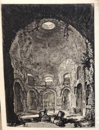 Eau-Forte Piranesi - Vista interior del templo della Tose