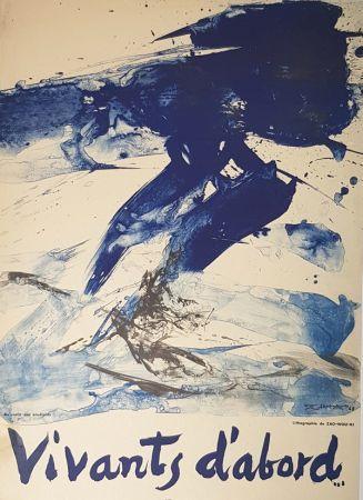 Lithographie Zao - Vivants D'abord