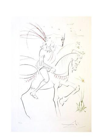 Lithographie Dali - Viviane et Lancelot