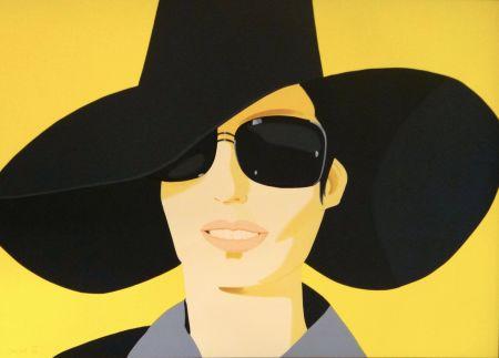 Lithographie Katz - Vivien in Black Hat