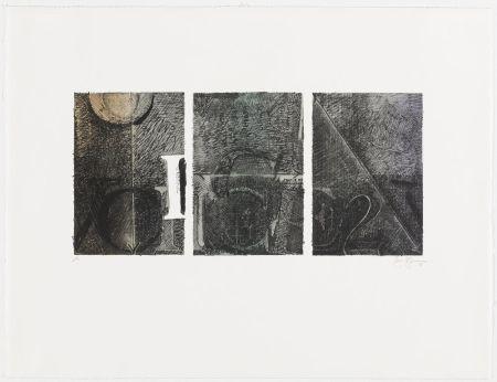 Lithographie Johns - Voice 2