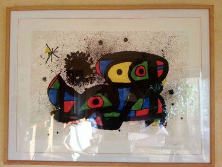 Lithographie Miró - Vol Espacial (Homenatge a Gaudí)